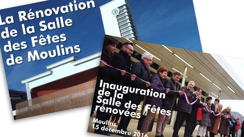 Vidéo – Rénovation & Inauguration de la Salle des Fêtes de Moulins