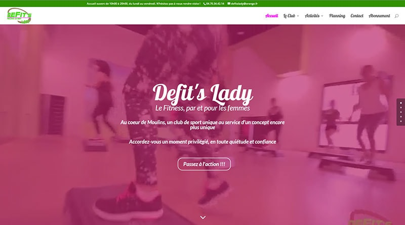 Site Web Defit's Lady