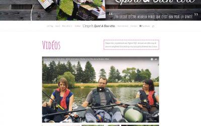 Web – Esprit Sport & Bien-être, le Site