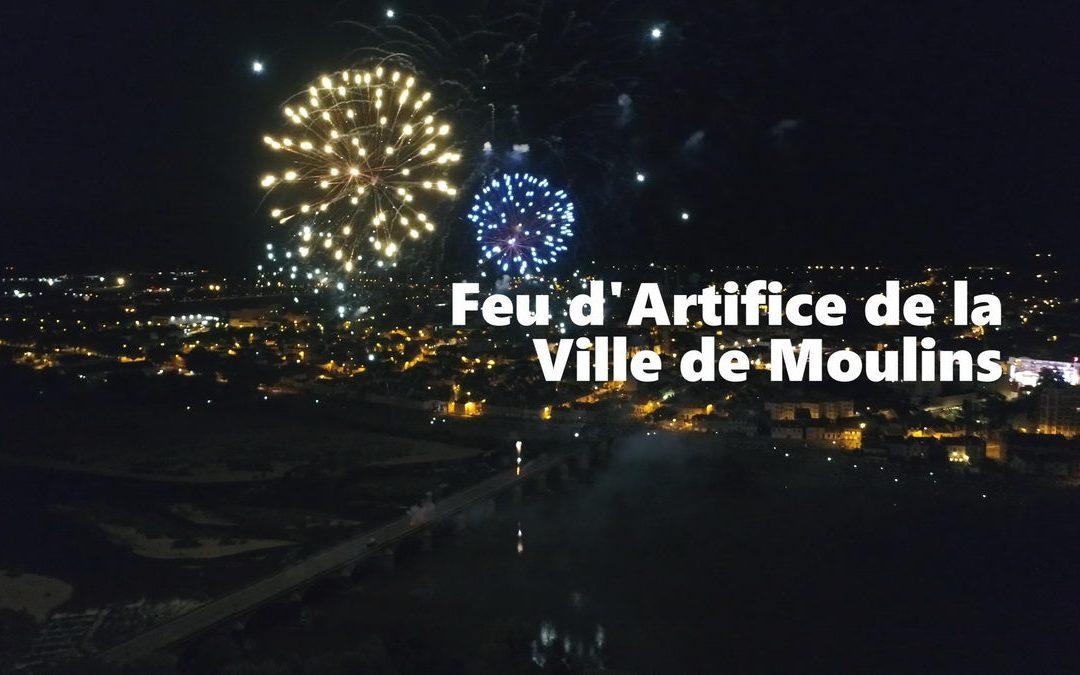 Vidéo – Feu d'artifice du 14 juillet de Moulins, en drone