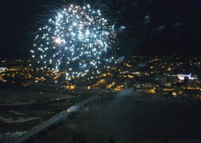 Feu d'Artifice du 14 juillet 2017 de Moulins en drone
